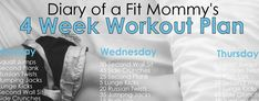 Diary of a Fit Mommy » 4 Week No-Gym Home Workout Plan