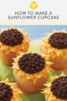 Read our blog post and learn how easy it is to pipe a buttercream sunflower! This edible flower looks beautiful on cakes and cupcakes and could not be simpler to make! This piping technique is great for beginner decorators. #wiltoncakes #edibleflowers #buttercreamflowers #sunflowers #cakedecorating #cupcakedecorating #wiltontips #diy