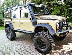 Land Rover Defender. For serious off-roading. I particularly like the big wheels, high travel suspension and snorkel.