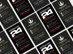 Herbalife Business Card Digital Template 3 By WackyJacquisDesigns 24 Cards