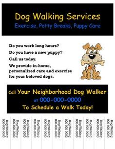 Dog walking flyers templates image search results animals dog walking flyer saigontimesfo