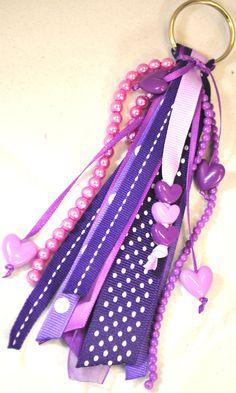 Grape Ribbon Keychain. $6.00, via Etsy.