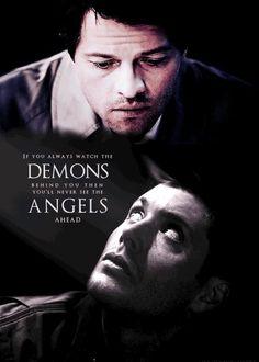 angels and demons #Supernatural #Dean #Cas #Castiel