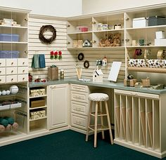 Closets By Design | Hobby Storage Solutions, Storage Desk, Storage Cabinets, Shelving Systems