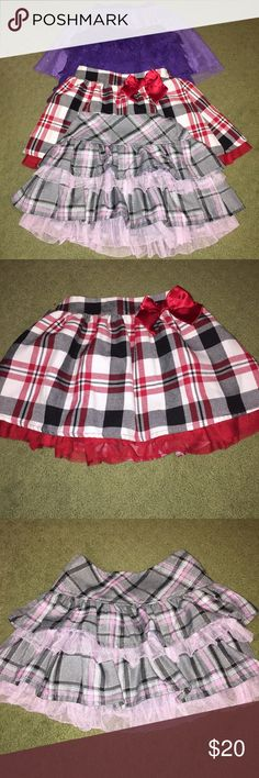Bundle of 4 Toddler Ruffle Skirts All Children's Place except the pink/gray (brand unknown). Children's Place Bottoms Skirts