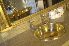 William Holland Chalcum Curva Basin with Brass Interior. www.williamholland.com