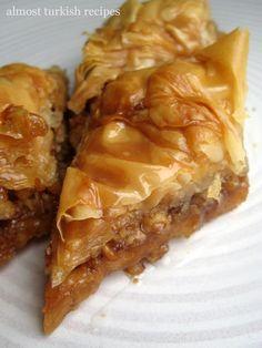 Nadire Atas On Baklava Desserts mother of god. i've finally found an easy baklava recipe. Turkish Recipes, Greek Recipes, Greek Desserts, Romanian Recipes, Scottish Recipes, Delicious Desserts, Dessert Recipes, Yummy Food, Healthy Food