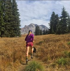 Trail running with a furry friend is always a blast! Do you have a four-legged running partner? : alexborsuk on Instagram