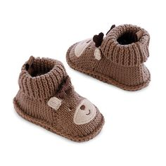 crochet reindeer booties - Google Search