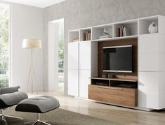 contemporary living room wall units - Google Search