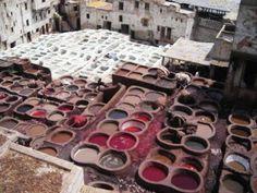Fez Leather Dye Pits, Morocco  Creative Arts Safaris - Moorish Delights of Andalusia & Morocco