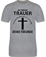 JGA Junggesellenabschied - in Tiefer Trauer - L - Grau Meliert - L190 - Herren T-Shirt Rundhals