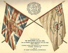 Colors of the 78th Highlanders, now the 2nd Battalion  Seaforth Highlanders (Ross-shire Buffs)