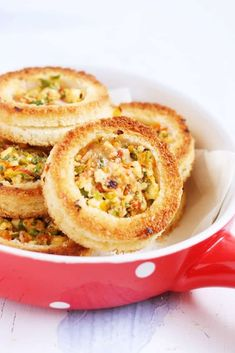 Cheese rings recipe with step by step photos. These cheese rings recipe is not your regular fried cheese ring recipe. Today I am sharing a very cute, attractive and tasty baked cheese rings loaded … Milk Recipes, Veg Recipes, Baby Food Recipes, Indian Food Recipes, Snack Recipes, Cooking Recipes, Paneer Recipes, Appetiser Recipes, Budget Cooking