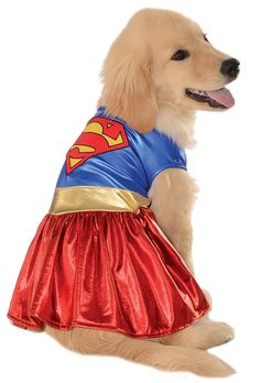Rubies Costume DC Heroes and Villains Collection Pet Costume-Supergirl ** Check out this great image  : Dog Apparel and Accessories