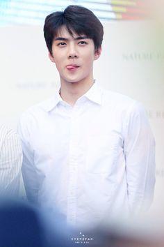 Sehun at Nature Republic fansign Chanyeol, Kyungsoo, Kai, Sehun Cute, Exo Album, Big Bang Top, Baekyeol, Kim Jongdae, Xiu Min