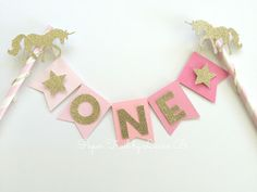 Pink Ombre Unicorn Cake Topper with Gold Glitter Star. Birthday Cake Topper, Smash Cake Topper, Photo Prop #GlitterCake #GlitterBirthday Glitter Bomb, Glitter Cake, Glitter Stars, Gold Glitter, Glittery Nails, Glitter Letters, Glitter Lips, Glitter Heels, Glitter Cardstock
