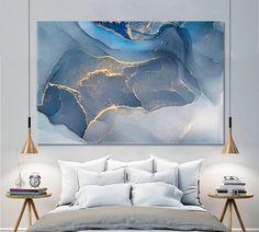Office Wall Decor, Wall Art Decor, Blue Abstract, Painting Abstract, Abstract Canvas, Abstract Landscape, Painting Art, Acrylic Paintings, Art Paintings