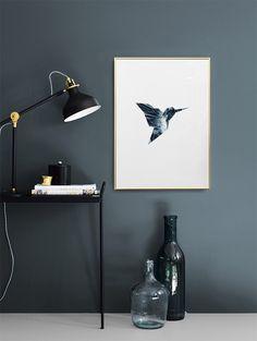 Graphic art-Poster mit Vögeln...