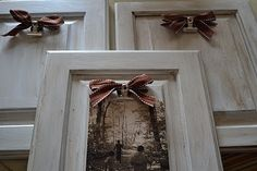 Googled what to do with old kitchen cabinet doors (left over from mudroom remodel).  What a great idea!