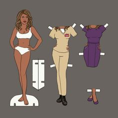 "The Cast Of ""Orange Is The New Black"" As Paper Dolls"