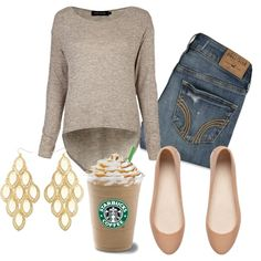 """Simple and cute Fall Outfit"" by natihasi on Polyvore"