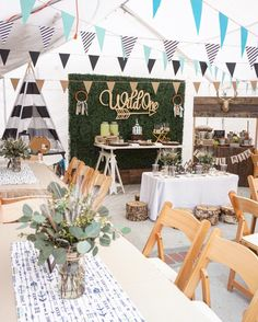 "Super cute ""wild"" boho chic party is so much fun. Wild one birthday, bridal shower, birthday party or for any elegant celebration. - First Birthday Party Decor Ideas Bohemian Birthday Party, Wild One Birthday Party, 1st Boy Birthday, Boy Birthday Parties, Baby Party, Birthday Table, Birthday Celebration, Simple 1st Birthday Party Boy, 1st Birthday Party Ideas For Boys"