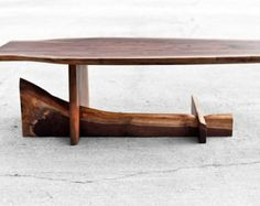 Live Edge Coffee Table Reclaimed Hardwoods by brandMOJOinteriors