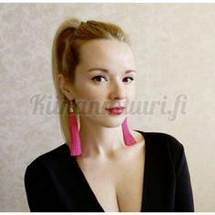 Tupsukorvakorut Drop Earrings, Jewelry, Fashion, Moda, Jewlery, Jewerly, Fashion Styles, Schmuck, Drop Earring