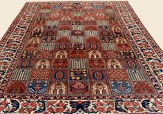 "BAKHTIARI, 11' 0"" x 15' 4"" — Circa 1910 —Price: $20,000, Central Persian Antique Rug - Claremont Rug Company  Click to learn more about this rug."