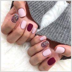 Uñas Fancy Nails, Love Nails, Pink Nails, Pretty Nails, Shellac Nails, Shellac Nail Colors, Pastel Nail, Nail Nail, Gel Manicure