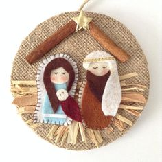 Excited to share the latest addition to my shop: Nativity Ornament / Christmas Nativity Ornament / Christmas Tree Ornament / Nativity Xmas Decoration / Handmade and Design in Felt - Burlap Nativity Ornaments, Nativity Crafts, Felt Christmas Ornaments, Christmas Nativity, Handmade Ornaments, Christmas Art, Felt Crafts, Holiday Crafts, Burlap Christmas
