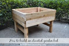 how to build an elevated garden bed table