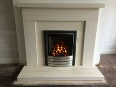 Beckford limestone fireplace including Paragon 2000 gas fire