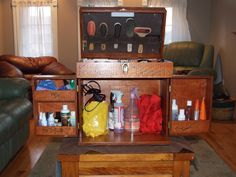 Would be a good idea for a tack box- should have handles to carry it.