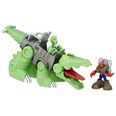 Playskool Heroes Marvel Super Hero Adventures SpiderMan  GatorBot ** ON SALE Check it Out Hero Spiderman, Superhero, Baby Toys Sale, Amazon Sale, Hero Girl, Christmas Toys, The Villain, War Machine, Infant Activities