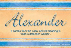 Alexander Name Meaning