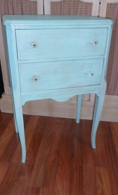 Paris Apartment Furniture | Paris Apartment Accent Table ...vintage,painted furniture,turquoise ...