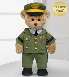 Toys:FTD Flowers Build-A-Bear-Workshop Army Bear-I Love You Sound
