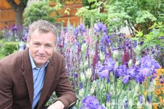 Chris Beardshaw at the RHS Chelsea Flower Show, in the Gold Medal winning garden he designed for the Morgan Stanley Healthy Cities Initiative. See a planting list for this garden, read an interview with Chris Beardshaw and learn more about this special garden at www.pumpkinbeth.com