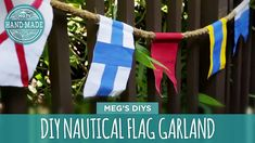 HGTV Dream Home 2015 week continues here on HGTV Handmade with Meg showing us how to make this eye-catching nautical flag garland! Don't miss these projects . Nautical Signs, Nautical Flags, Nautical Theme, Flag Garland, Cozy House, Hgtv, Medieval Decorations, Symbols, Crafty