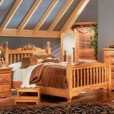 Bebe Furniture 41 Country Heirloom Four Post Rake Bed Headboard and Footboard Set - ATG Stores