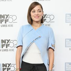 Marion Cotillard in a tomboy chic style I love