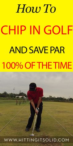 Golf Tips Swing Discover how to chip in golf and save par of the time and lower your golf scores. Best Golf Clubs, Best Golf Courses, Golf Chipping Tips, Golf Score, Golf Putting Tips, Golf Practice, Golf Videos, Golf Instruction, Golf Tips For Beginners