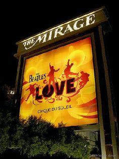 Cirque Du Soleil's LOVE at the Mirage.  <3 <3 <3