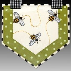 Bee Tile Valance