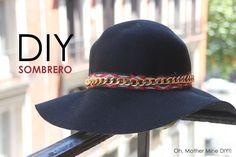 DIY Sombrero estilo boho chic