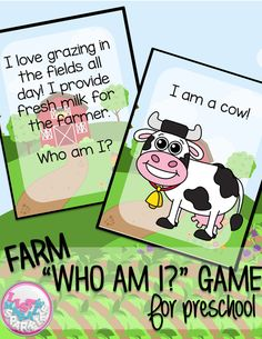 [ Play this fun interactive game with your students to teach them about 14 different farm animals including a cow, horse, sheep, pig, and more! You can use this a multitude of ways for different grades and abilities! It can be a circle time activity for Farm Animals Games, Farm Animals Preschool, Farm Animal Crafts, Preschool Lessons, Preschool Activities, Animal Games, Preschool Farm Theme, Farm Games, Preschool Teachers