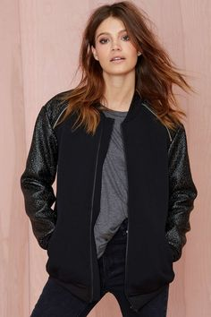 Finders Keepers On the Run Bomber Jacket