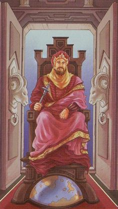 IV. The Emperor - Tarot of the 78 Doors by Antonella Platano